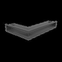 Камінна решітка Решітка LUFT кутова права графітова 40x60x9 Kratki