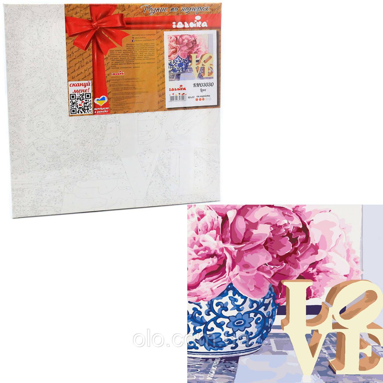 Картина за номерами ідейка «Love!» 40x40 см (КНО3030)