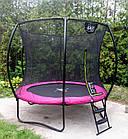 Батут EXIT Silhouette 244 см з захисною сіткою рожевий, фото 8