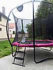 Батут EXIT Silhouette 244 см з захисною сіткою рожевий, фото 9