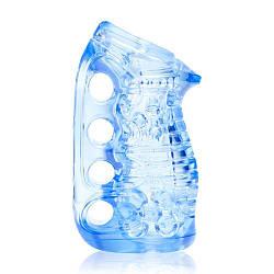 Мастурбатор Fleshlight Fleshskins Grip Blue Ice, надежная фиксация на руке, отлично для пар и минета