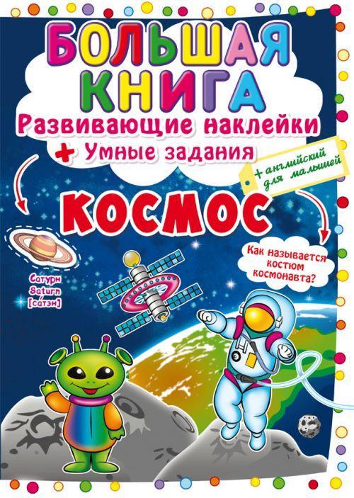 Большая Книга Развивающие Наклейки Умные Задания Космос На Русском SKL88-306626