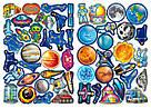 Большая Книга Развивающие Наклейки Умные Задания Космос На Русском SKL88-306626, фото 4