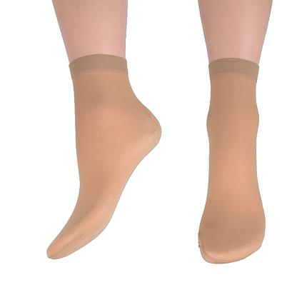 Носки капроновые 30 den Бежевый (TK607/vison) | 10 пар, фото 2