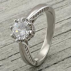 Кольцо серебряное женское Вечное очарование вставка белые фианиты размер 17.5