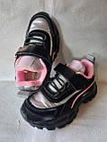 Черные кроссовки для девочек, фото 4