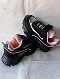 Черные кроссовки для девочек, фото 3