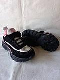 Черные кроссовки для девочек, фото 2