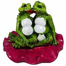 Садовая фигура BnBkeramik Лягушки на лотосе