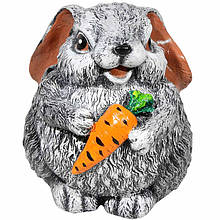 Садова фігура BnBkeramik Заєць кругляш з морквою