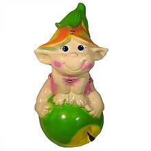 Садовая фигура BnBkeramik Эльф на яблоке