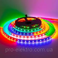 LED SMART стрічка RGB (кожен діод) AVT-05-300RGB WS2812-5V, Led/м60, IP20, 14.4 Вт/м 1017957