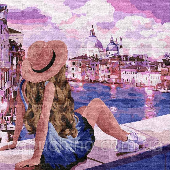 Картина по номерам рисование Идейка Розовые мечты 3 40х40см КНО4742 набор для росписи, краски, кисти, холст