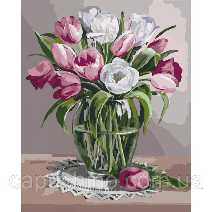Картина по номерам рисование Идейка Весняний аромат 40х50см КНО3041 набор для росписи, краски, кисти, холст