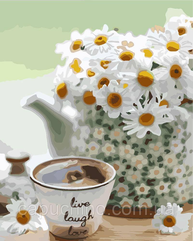 Картина за номерами малювання Ідейка Ромашкова ніжність КНО3076 30х40см набір для розпису, фарби, пензлі,