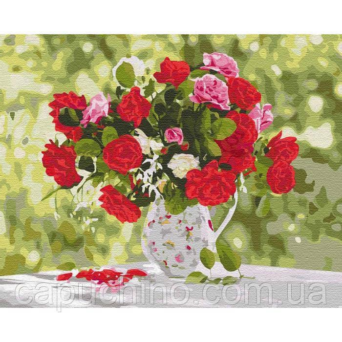Картина по номерам рисование Идейка Разнообразие красок КНО3108 40х50см набор для росписи, краски, кисти,