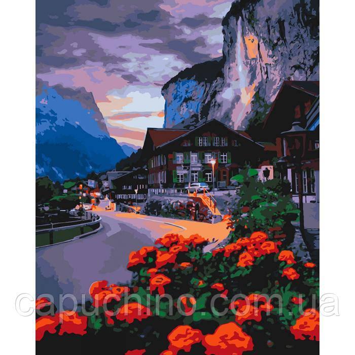 Картина малювання за номерами Ідейка Лїто у Швейцарії 40х50см КНО2262 набір для розпису, фарби, пензлі, полотно