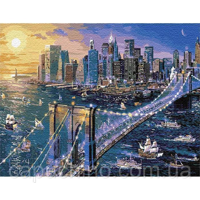 Картина по номерам рисование Идейка Большое яблоко 50х65см КНО12170 набор для росписи, краски, кисти, холст