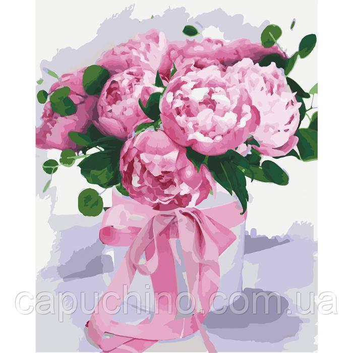 Картина за номерами малювання Ідейка Подарунок коханій 40х50см КНО2095 набір для розпису, фарби, кисті, полотно