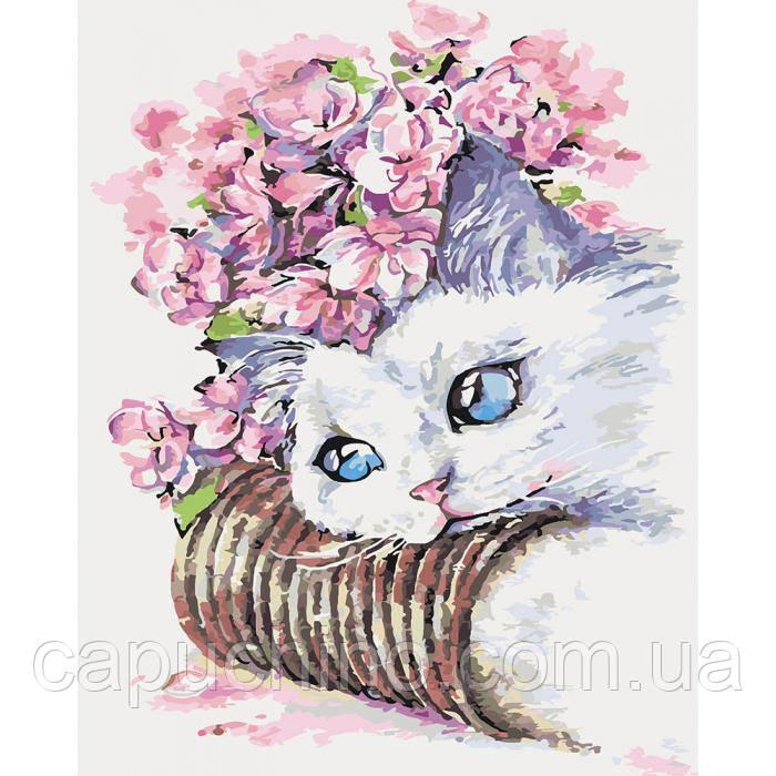 Картина за номерами малювання Ідейка Ніжність ранку 40х50см КНО2494 набір для розпису, фарби, кисті, полотно