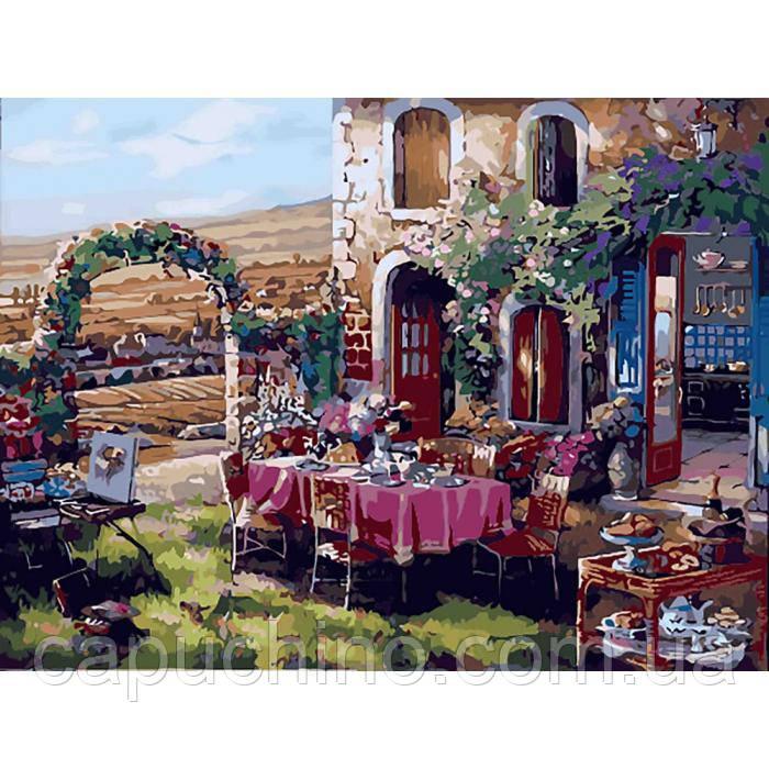 Картина за номерами малювання Ідейка Життя в провансі 40х50см КНО2245 набір для розпису, фарби, кисті, полотно