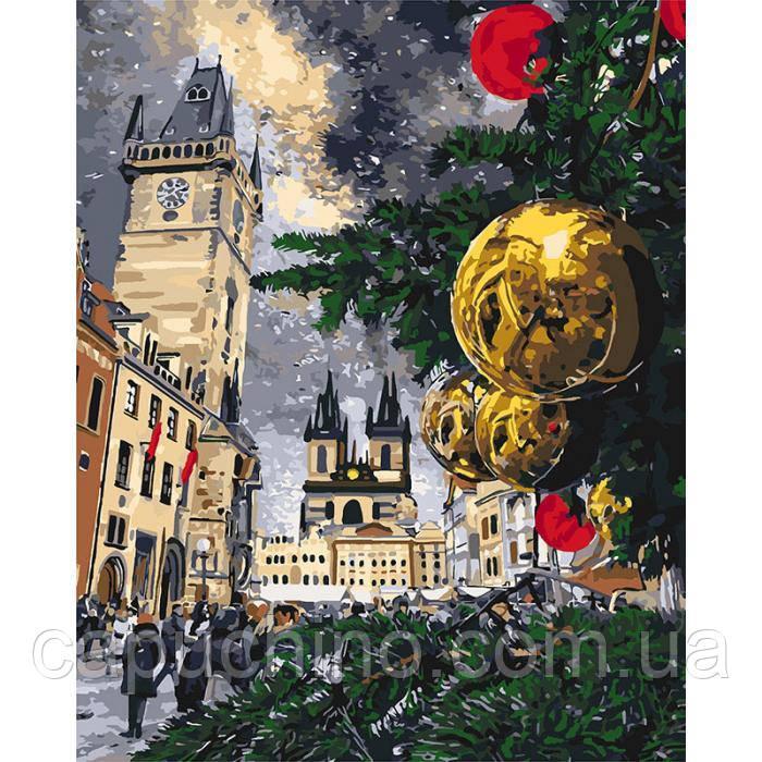 Картина по номерам рисование Идейка Різдв'яні канікули 40х50см КНО3562 набор для росписи, краски, кисти, холст