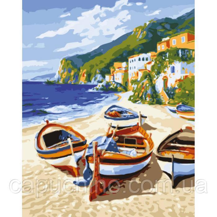 Картина по номерам рисование Идейка Тихая гавань 2 40х50см КНО2721 набор для росписи, краски, кисти, холст