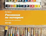 Картина малювання за номерами Mariposa Горная хижина 40х50см Q2200 набір для розпису, фарби, пензлі, полотно, фото 3