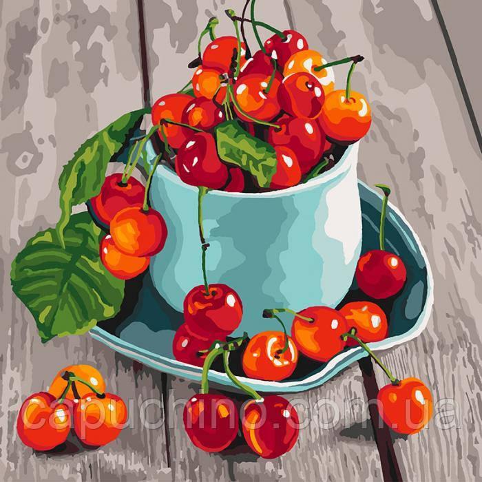 Картина за номерами малювання Ідейка Черешневісмаколики 40х40см КНО5552 набір для розпису, фарби, кисті, полотно