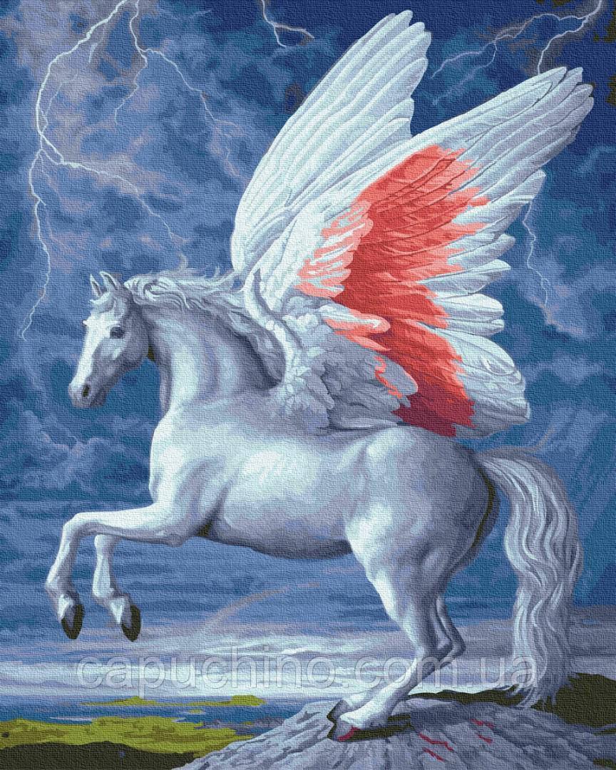 Картина за номерами малювання Brushme Крилатий кінь GX23537 40х50см набір для розпису по цифрам у коробці