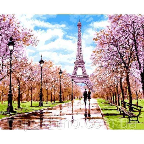 Картина по номерам рисование Babylon NB1198 Апрель в Париже 40х50см набор для росписи по цифрам в коробке