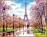 Картина за номерами малювання Babylon NB1198 Квітень у Парижі 40х50см набір для розпису по цифрам у коробці, фото 2