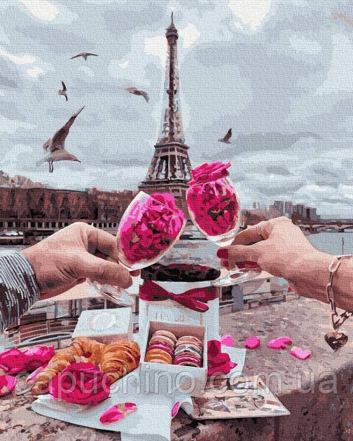 Картина за номерами малювання Добрий ранок у Парижі GX34598 40х50см набір для розпису по цифрам без коробки