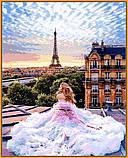 Картина за номерами малювання Babylon NB1013 Ранок у Парижі. Віра 40х50см набір для розпису по цифрам у коробці, фото 2