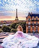 Картина за номерами малювання Babylon NB1013 Ранок у Парижі. Віра 40х50см набір для розпису по цифрам у коробці, фото 7