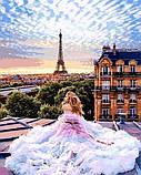 Картина за номерами малювання Babylon NB1013 Ранок у Парижі. Віра 40х50см набір для розпису по цифрам у коробці, фото 8