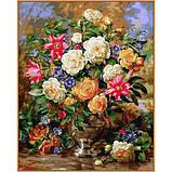 Картина по номерам рисование Babylon NB1052 Лилии и жёлтые розы 40х50см набор для росписи по цифрам в коробке, фото 2