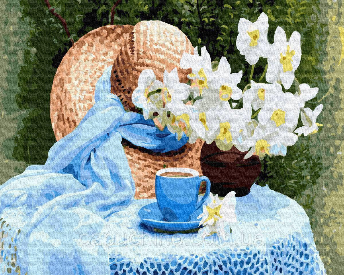 Картина за номерами малювання Весняні нарциси GX34429 40х50см набір для розпису по цифрам без коробки