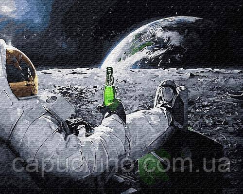 Картина по номерам рисование Релакс в космосе GX34312 40х50см набор для росписи по цифрам без коробки