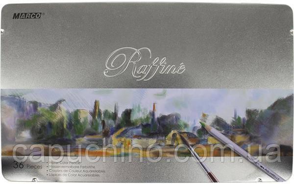 Акварельные карандаши Raffine 7120-36TN 36цв Marco~#~Акварельні олівці  Raffine 7120-36TN 36кол Marco