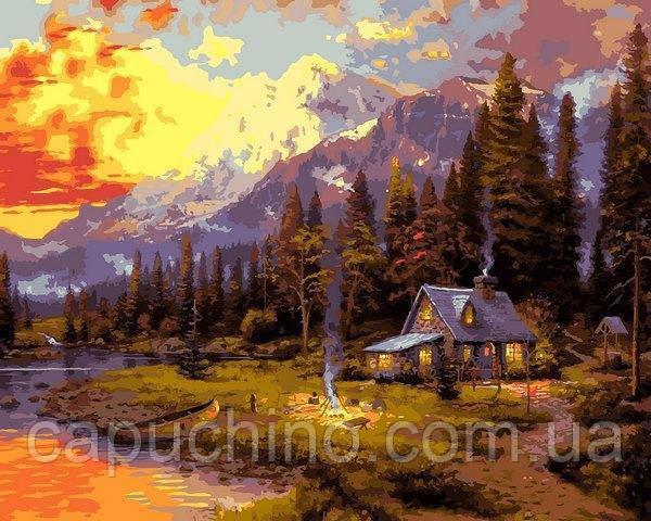 Картина за номерами Відпочинок в лісовому будиночку, 40x50 див., Babylon