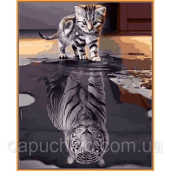 Картина за номерами Душа тигра, 40x50 див., Babylon Premium