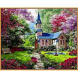 Картина по номерам рисование Babylon NB1153 Замок в цветущем саду 40х50см набор для росписи по цифрам в, фото 6