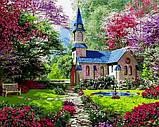 Картина по номерам рисование Babylon NB1153 Замок в цветущем саду 40х50см набор для росписи по цифрам в, фото 7