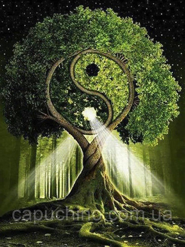 """Набір алмазної вишивки """"Дерево життя - Інь та Янь"""""""