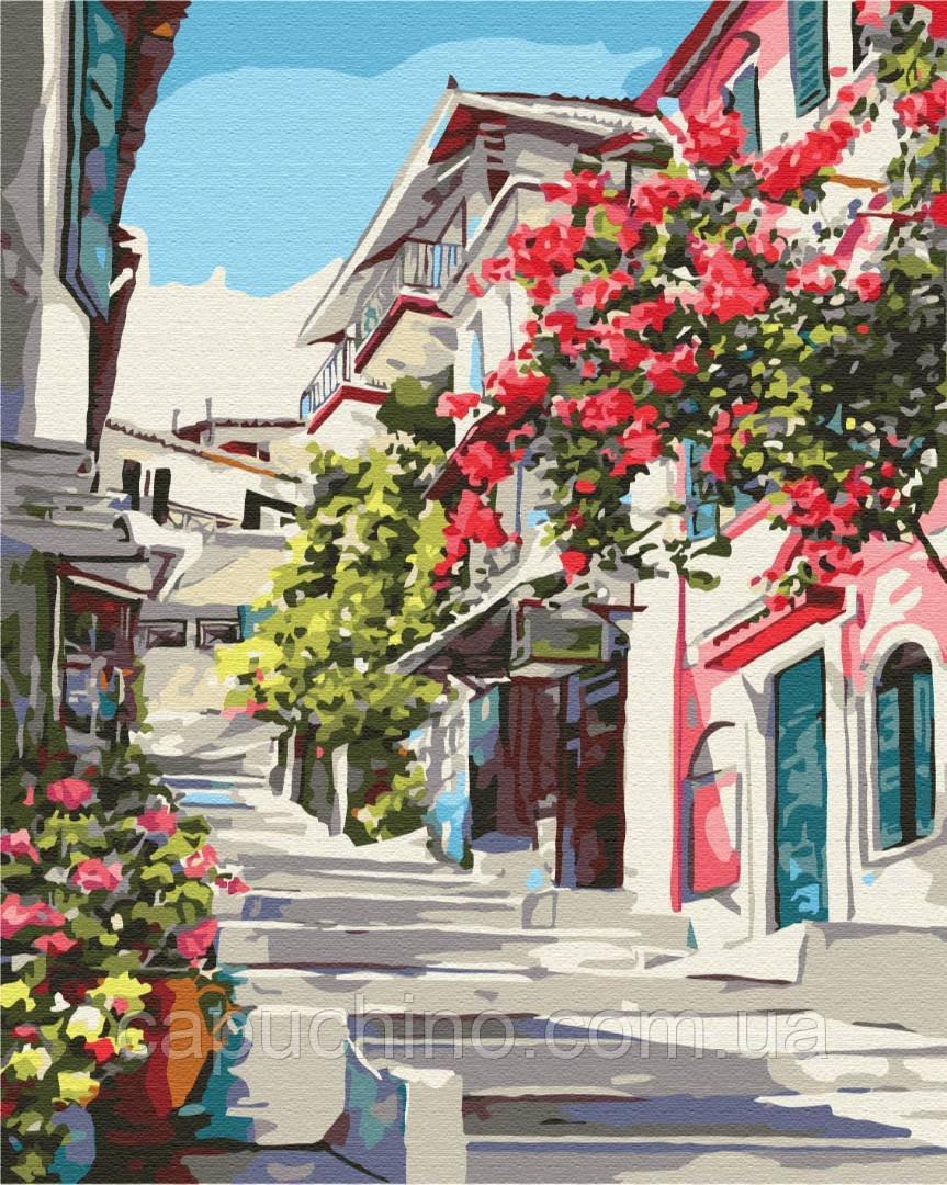 Картина по номерам рисование Греция BS7519 40х50см роспись по цифрам набор для рисования, холст, краски, кисти