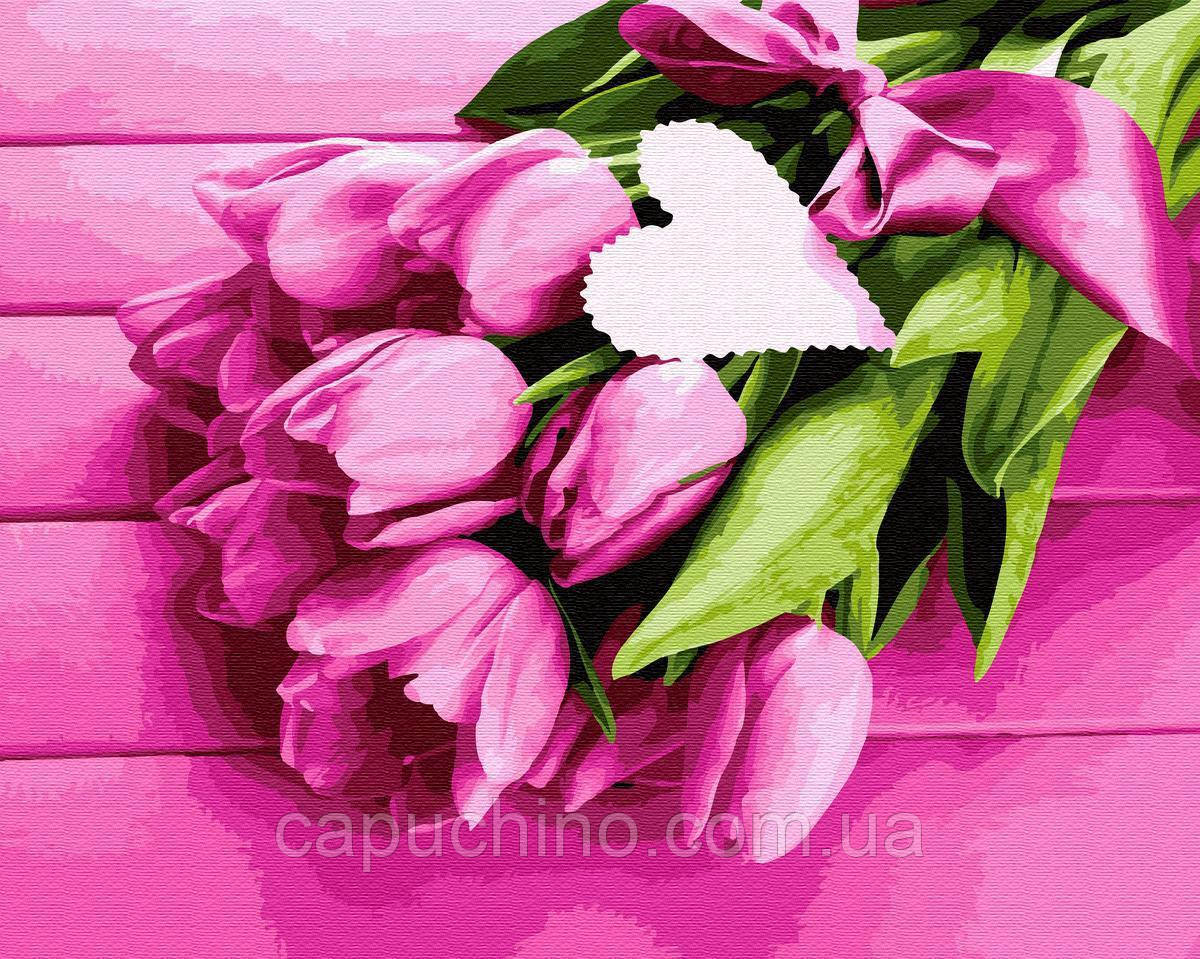 Картина по номерам рисование Тюльпаны для любимой BK-GX32480 набор для росписи, краски, кисти, холст