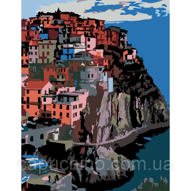 Картина за номерами малювання Роса Италияг.манарола набір для розпису по цифрам, фарби, кисті, полотно