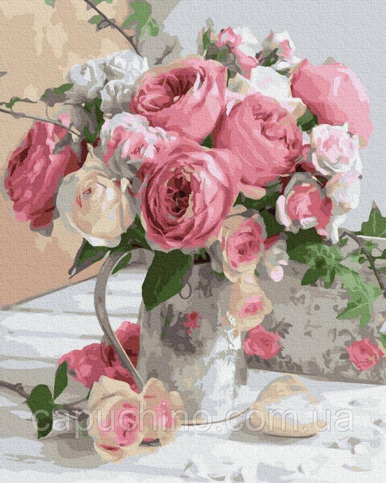 Картина по номерам рисование Утренние розы BK-GX32946 40х50см роспись по цифрам набор для рисования, холст,