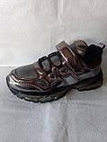 Модные кроссовки. Clibee кроссовки бронзовые для девочки., фото 9